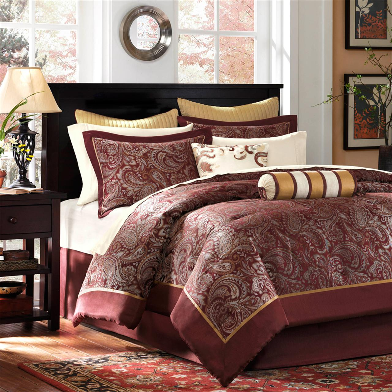comforter marcella set cotton sets bed madison park piece indigo product printed bath bedding