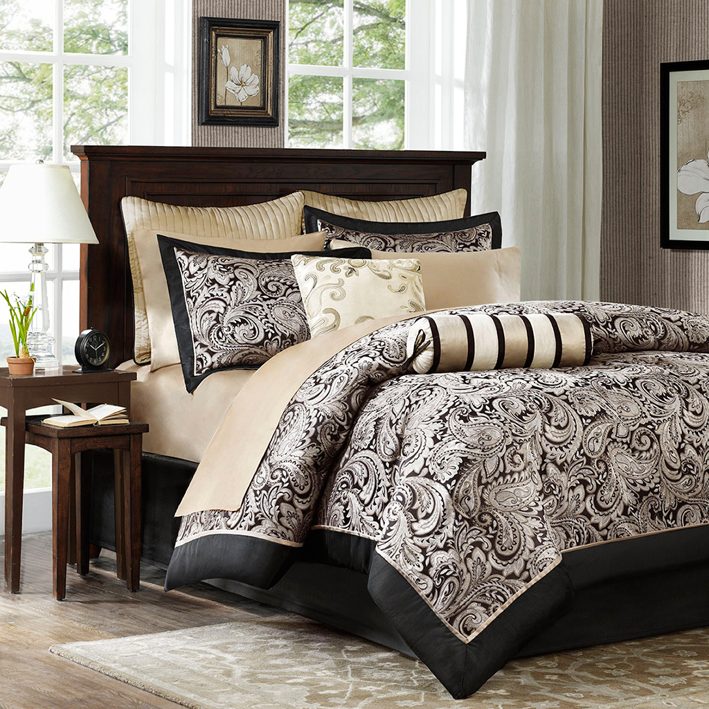 awesome Complete Bed In A Bag Sets Part - 16: Madison-Park-Aubrey-12-Piece-Complete-Bed-Set