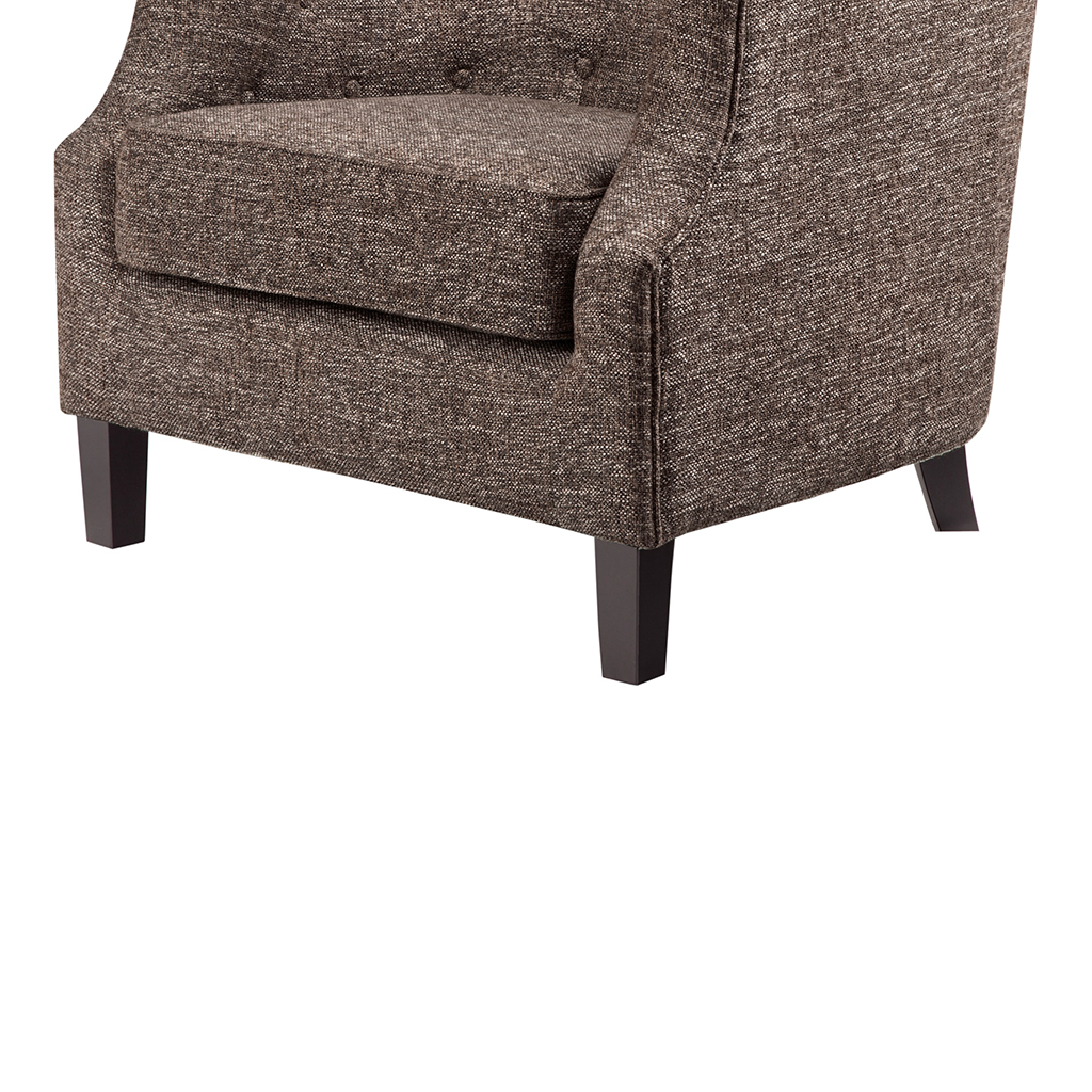 Charlton Home Bunker Hill Natural With Nailheads Barrel Chair