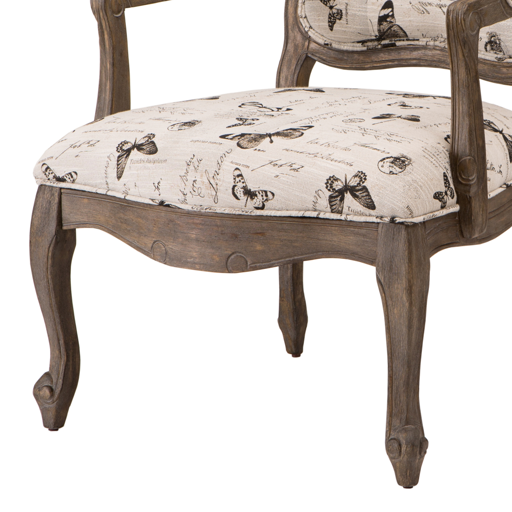 Madison Park Monroe Camel Back Exposed Wood Chair