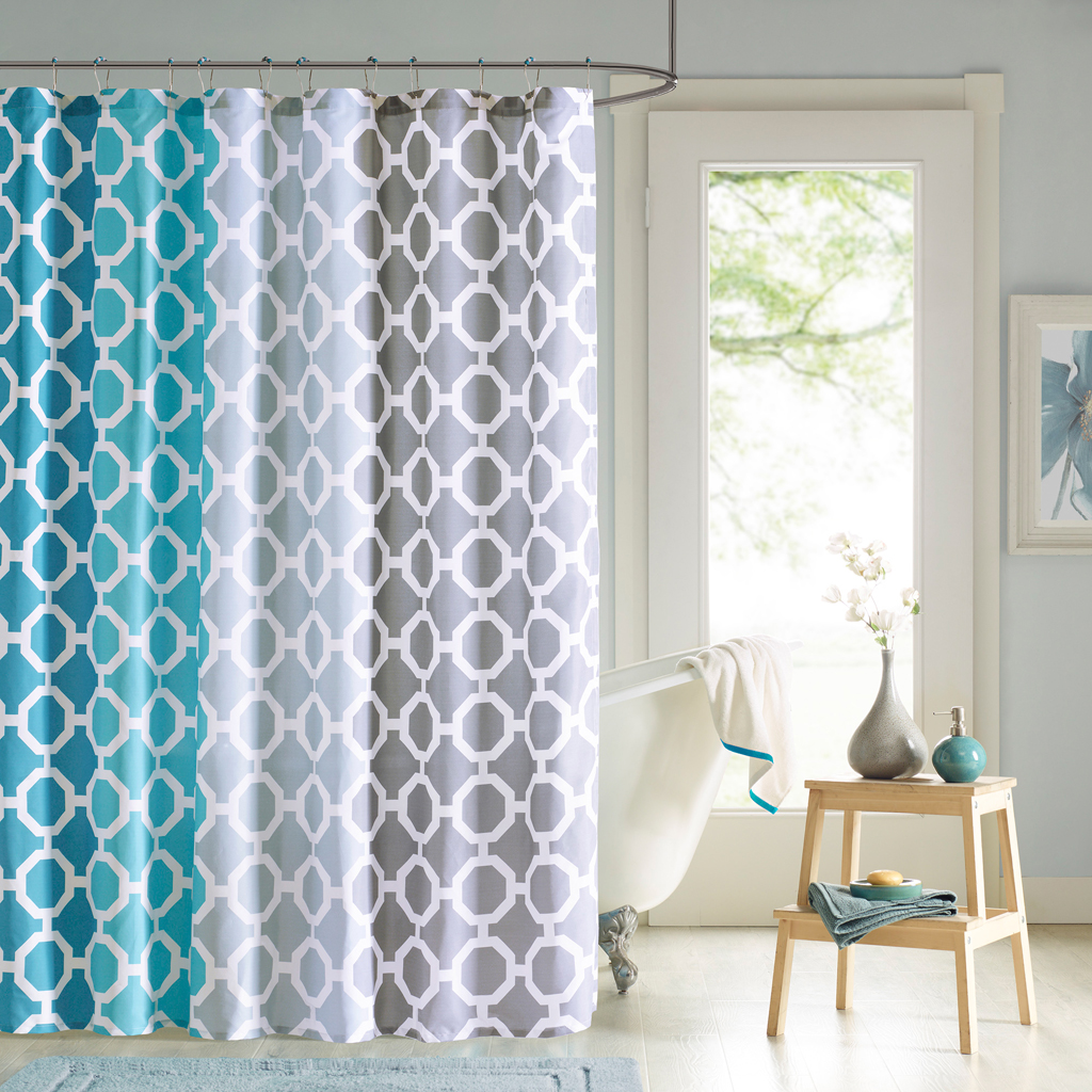 90 By Design Lab Dani Printed Shower Curtain