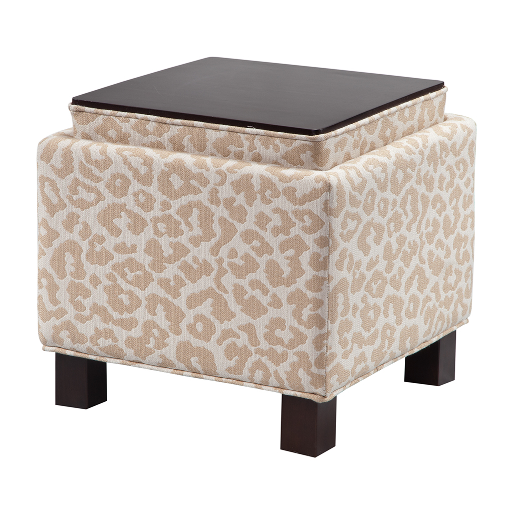 Madison Park Shelley Square Storage Ottoman With Pillows