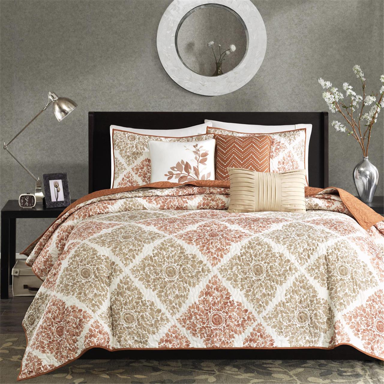 Madison Park Claire 6 Piece Quilted Coverlet Set