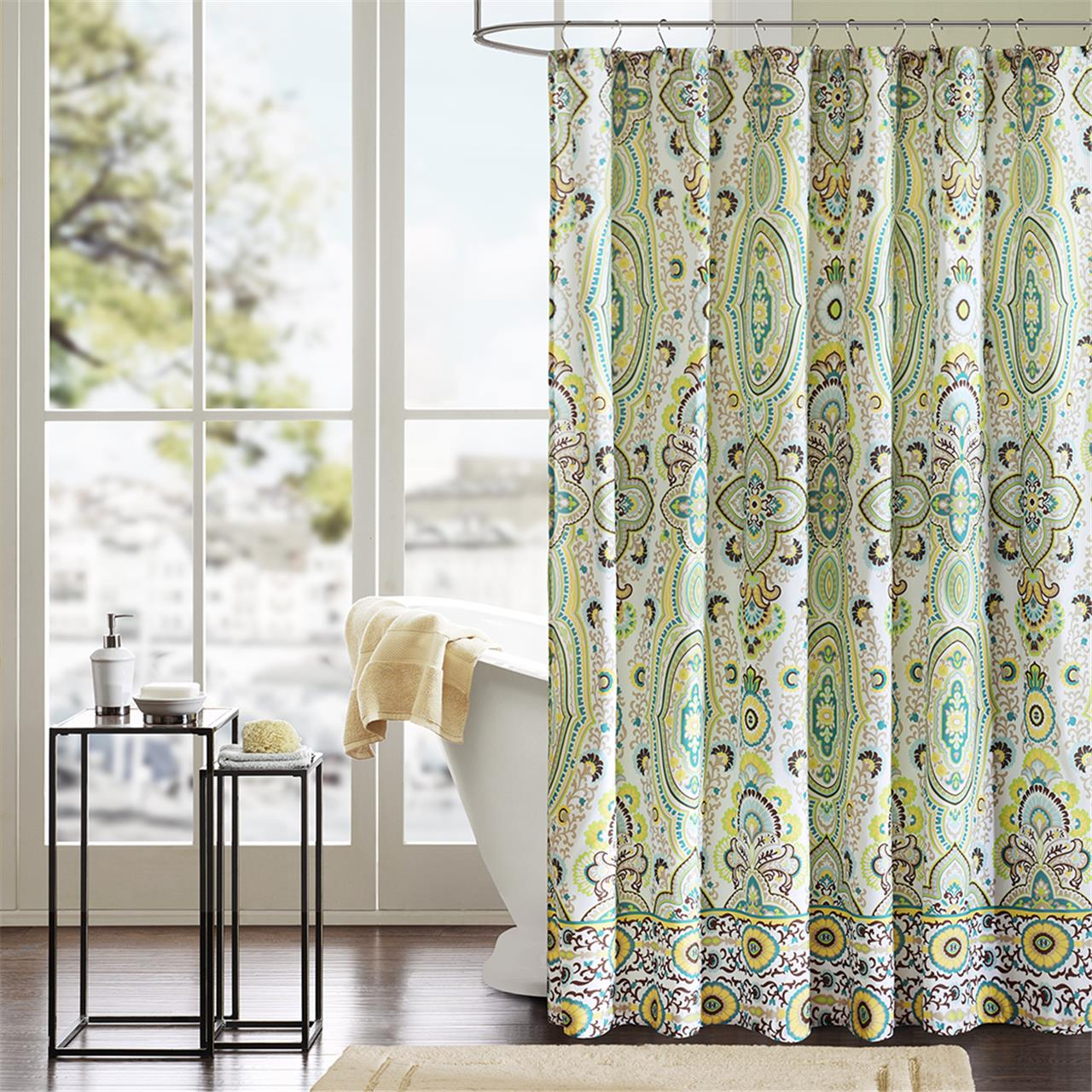 Image Is Loading Intelligent Design Tasia Shower Curtain