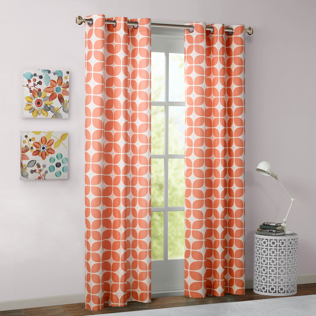 Intelligent Design Lita Geometric Grommet Top Window Curtain