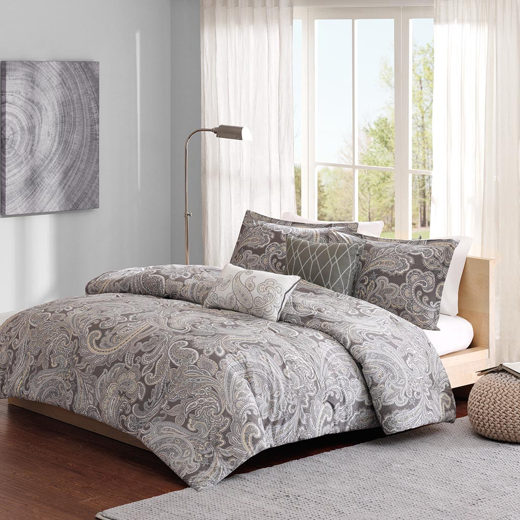 buy sets beyond liverpool blue bath khaki queen chocolate comforter bed brown beige piece set from