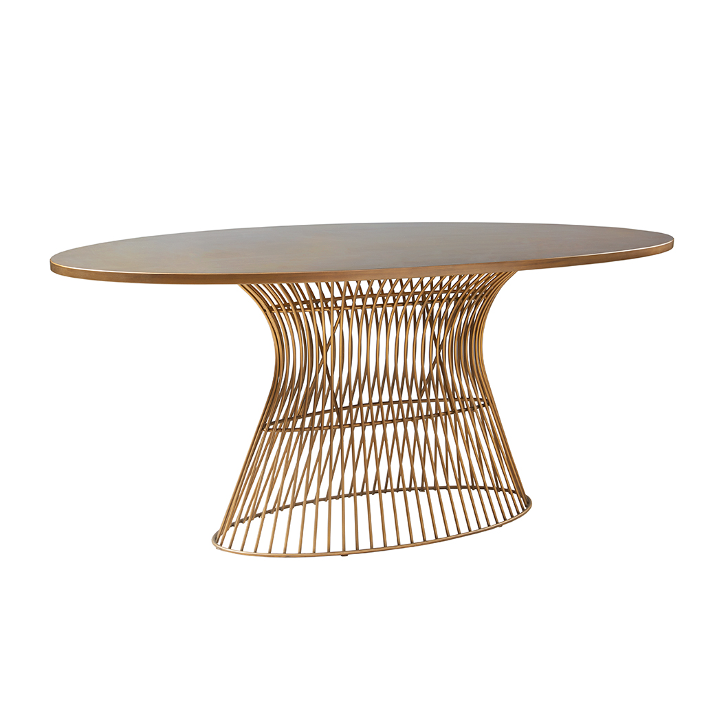 INKIVY Mercer Oval Dining Table EBay - Oval dining table seats 6