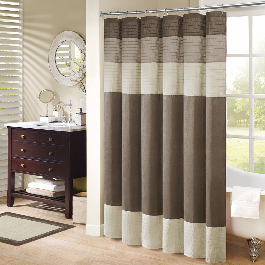 Natural shower curtain - Madison Park Amherst Shower Curtain