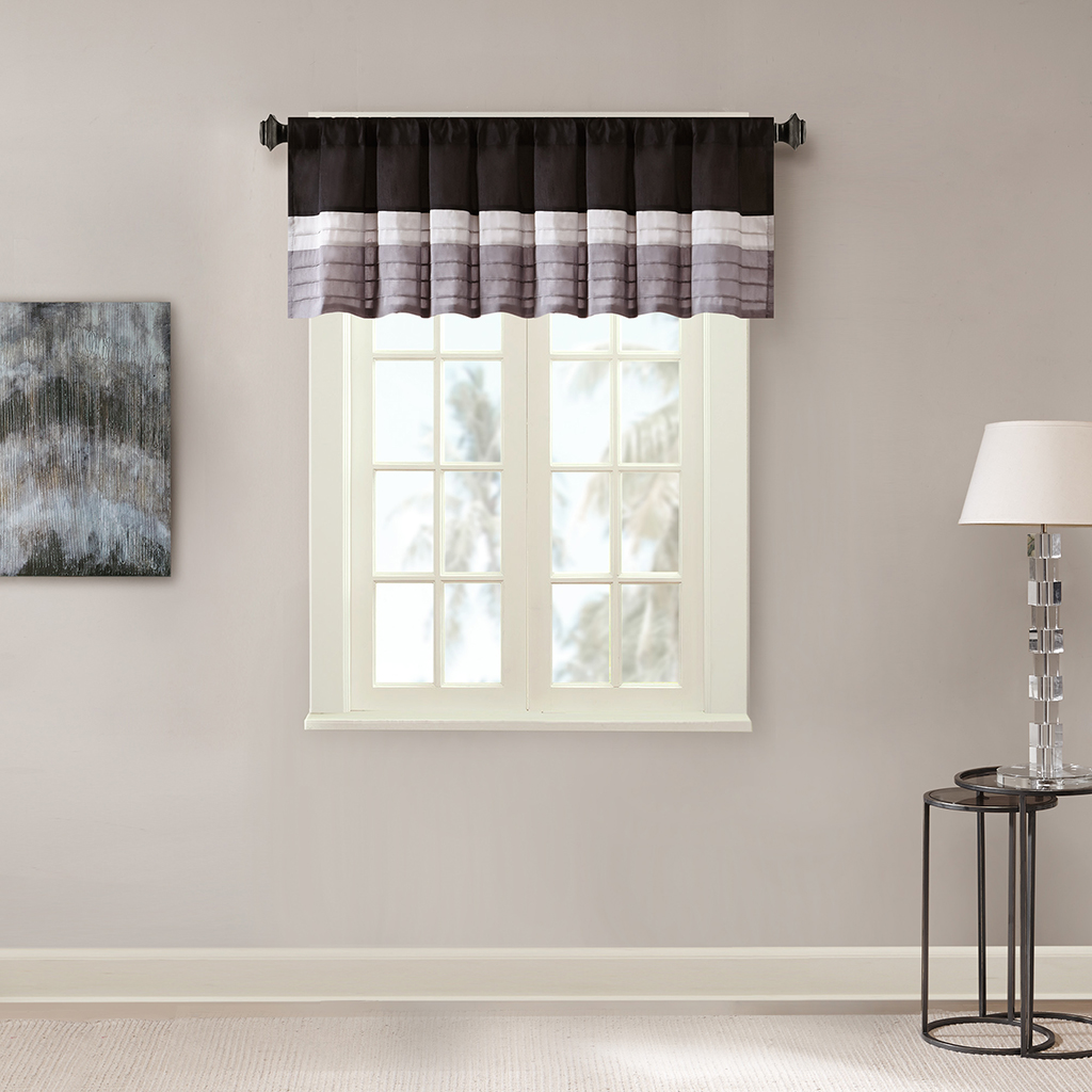 Madison Park Amherst Polyoni Pintuck Window Valance Ebay