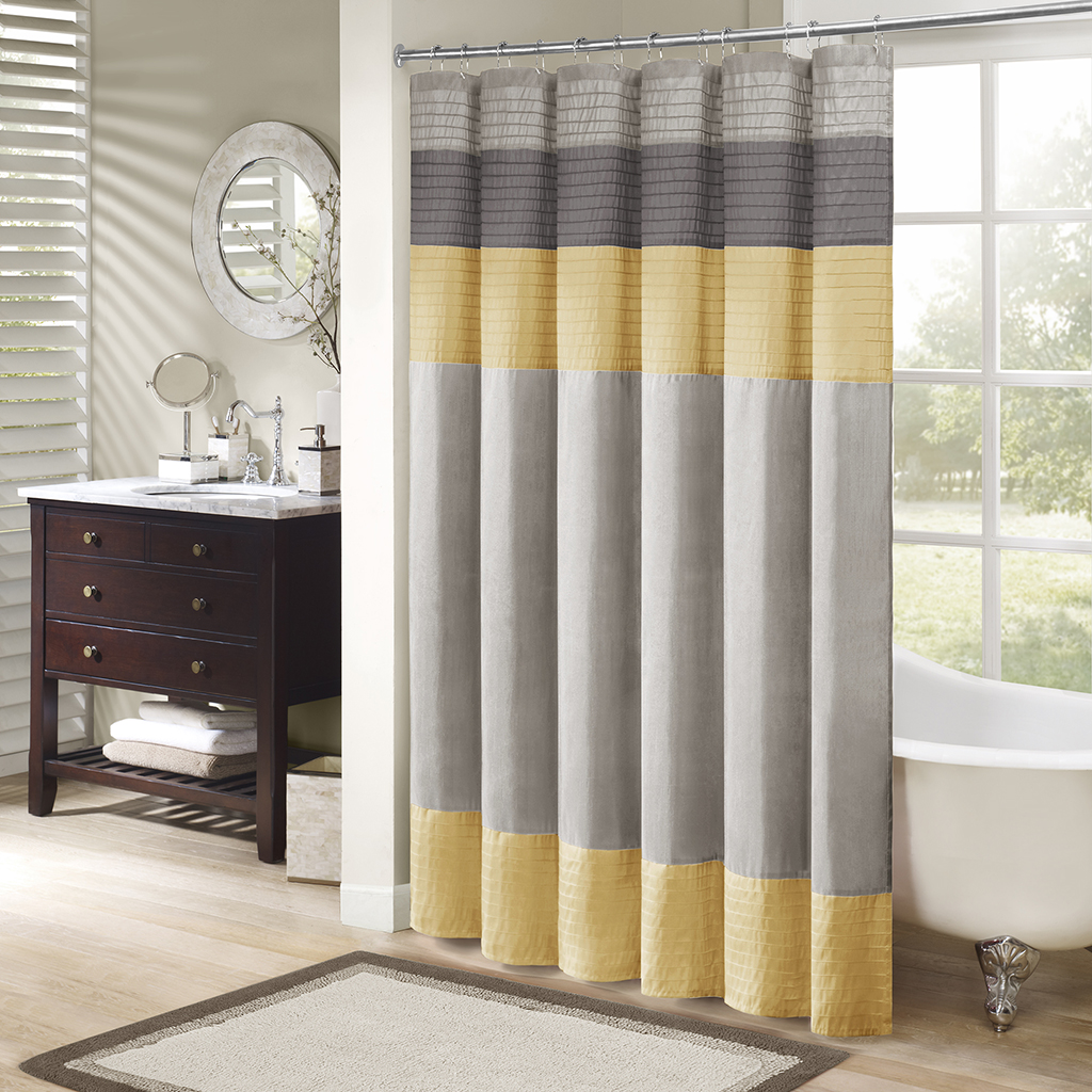 Yellow stripe shower curtain - Yellow Striped Shower Curtains