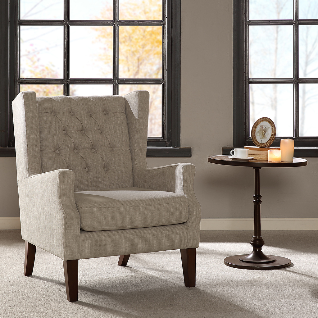 Designer deals club for hancock - Madison Park Maxwell Button Tufted Wing Chair