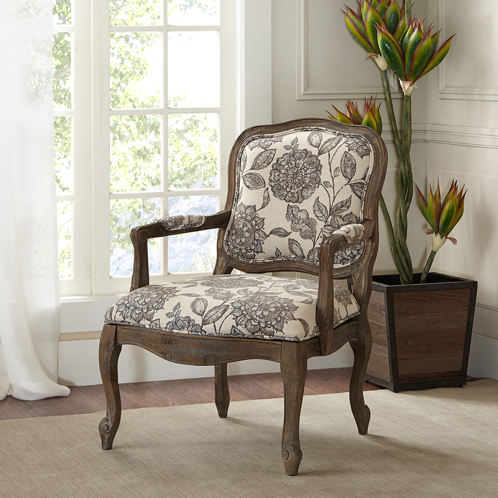 Foyer Accent Chair : Madison park monroe camel back exposed wood chair