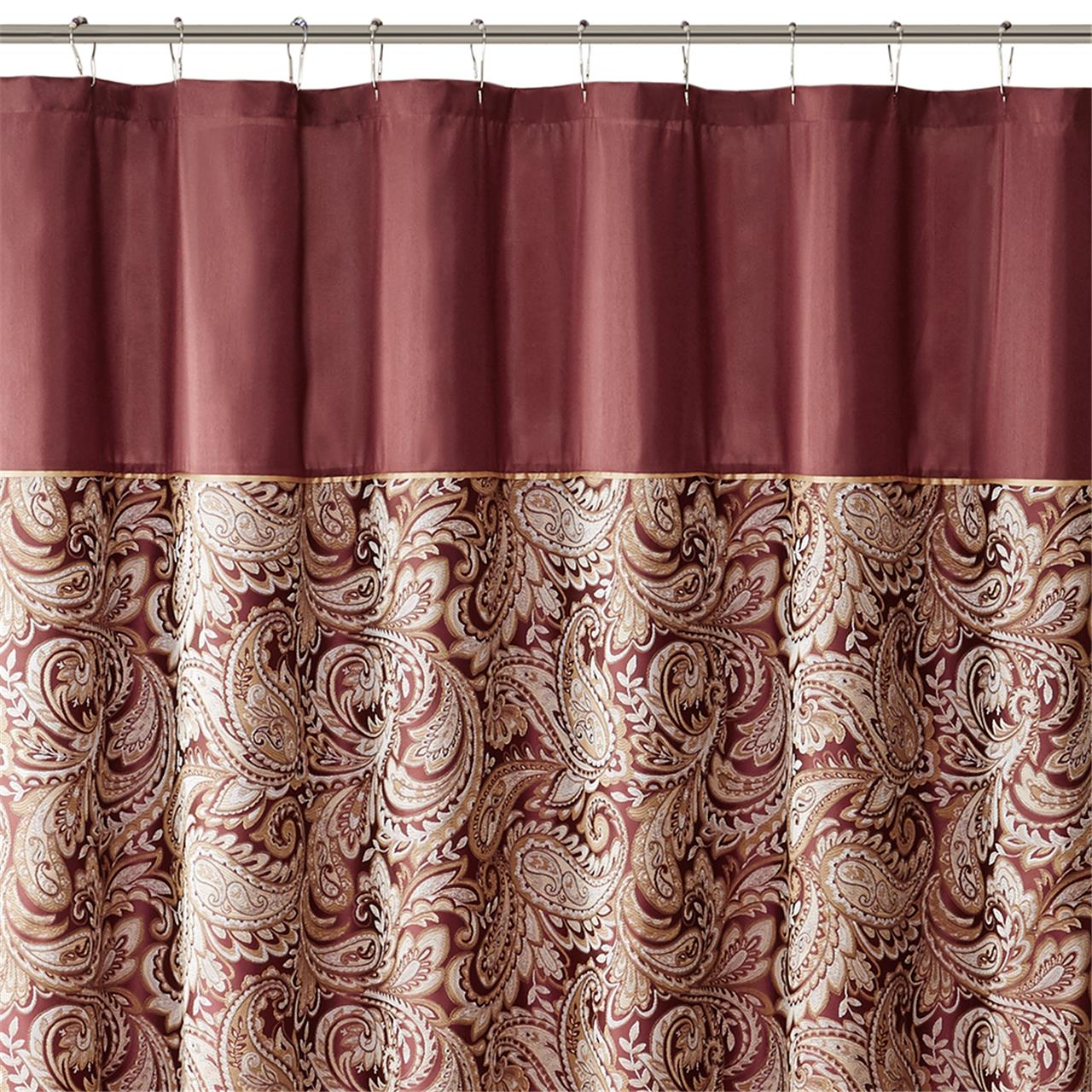 Madison Park Aubrey Polyester Jacquard Shower Curtain