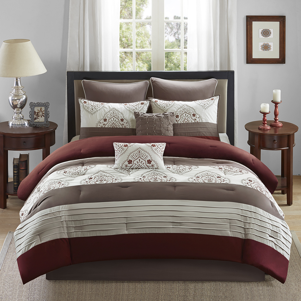 Home Essence Arden 8 Piece Comforter Set Ebay
