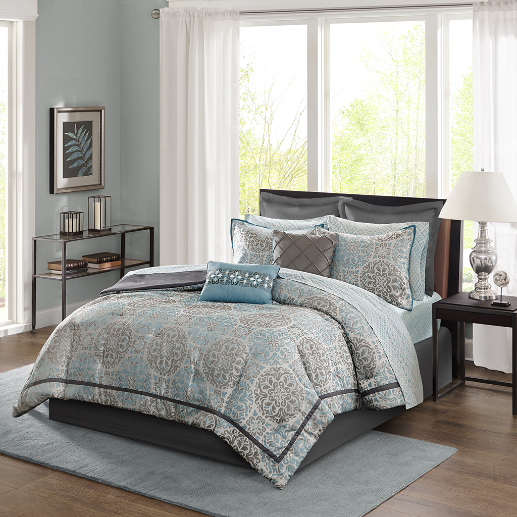 Madison Park Sharlotta 12 Piece Comforter Set Ebay