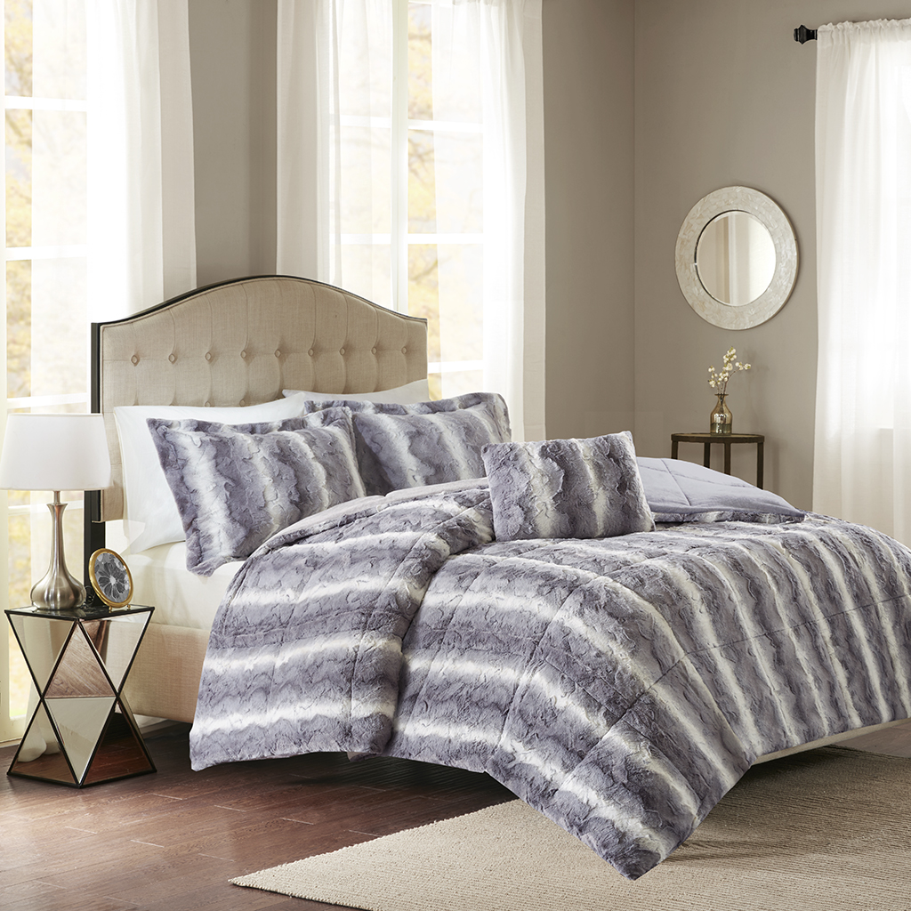 geneva product shipping faux bedding overstock canopy madison free today fur comforter park marselle pine set bath