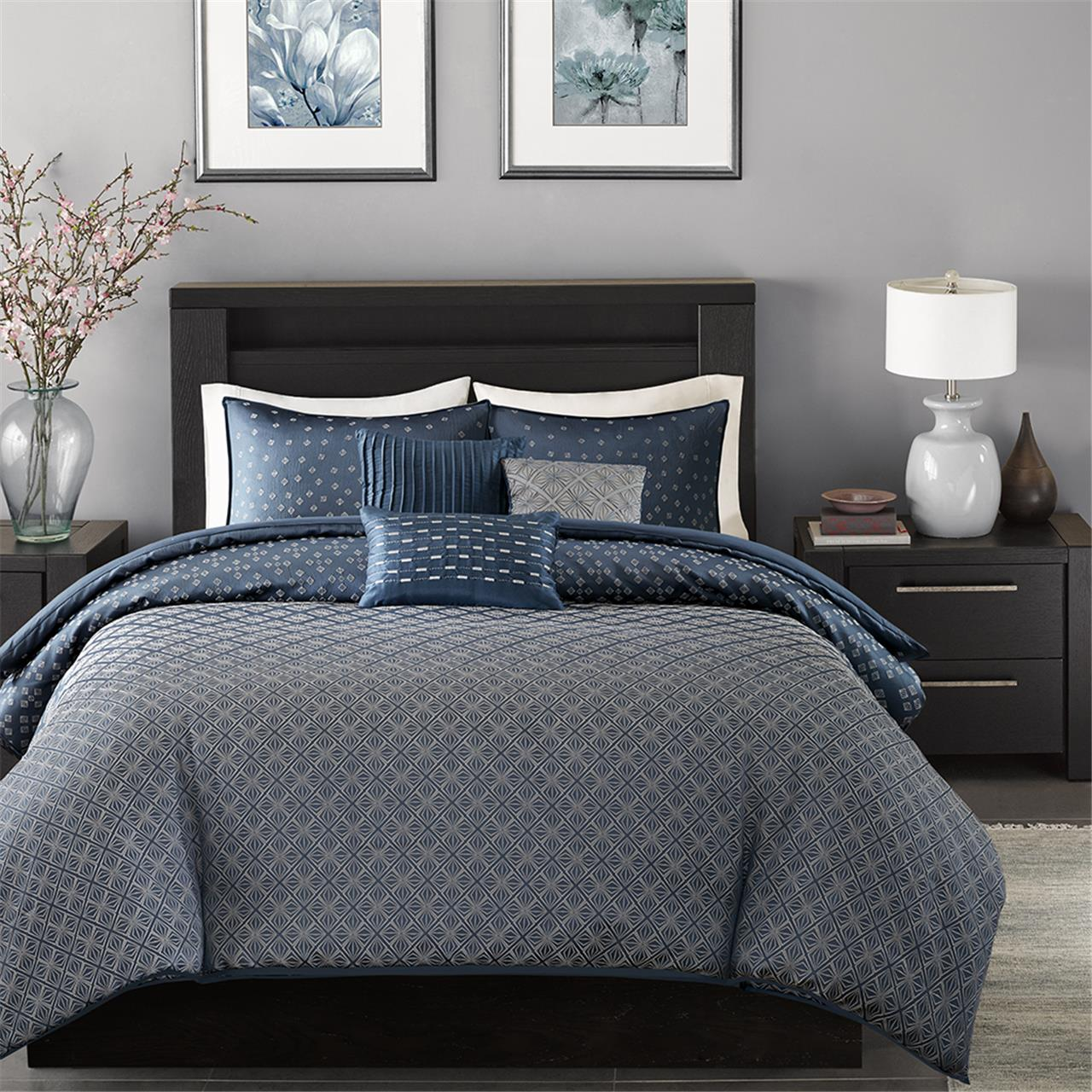 Madison Park Biloxi 6 Piece Duvet Cover Set Ebay