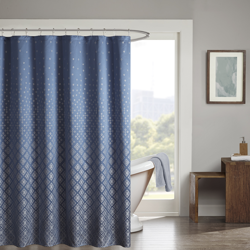 Madison Park Biloxi Jacquard Shower Curtain