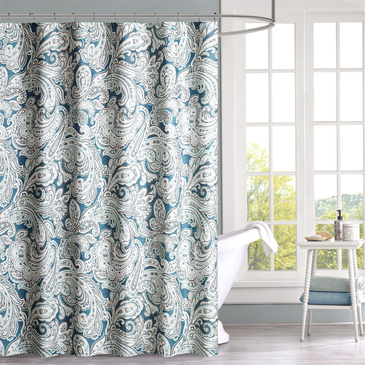 Madison Park Gabby Cotton Shower Curtain