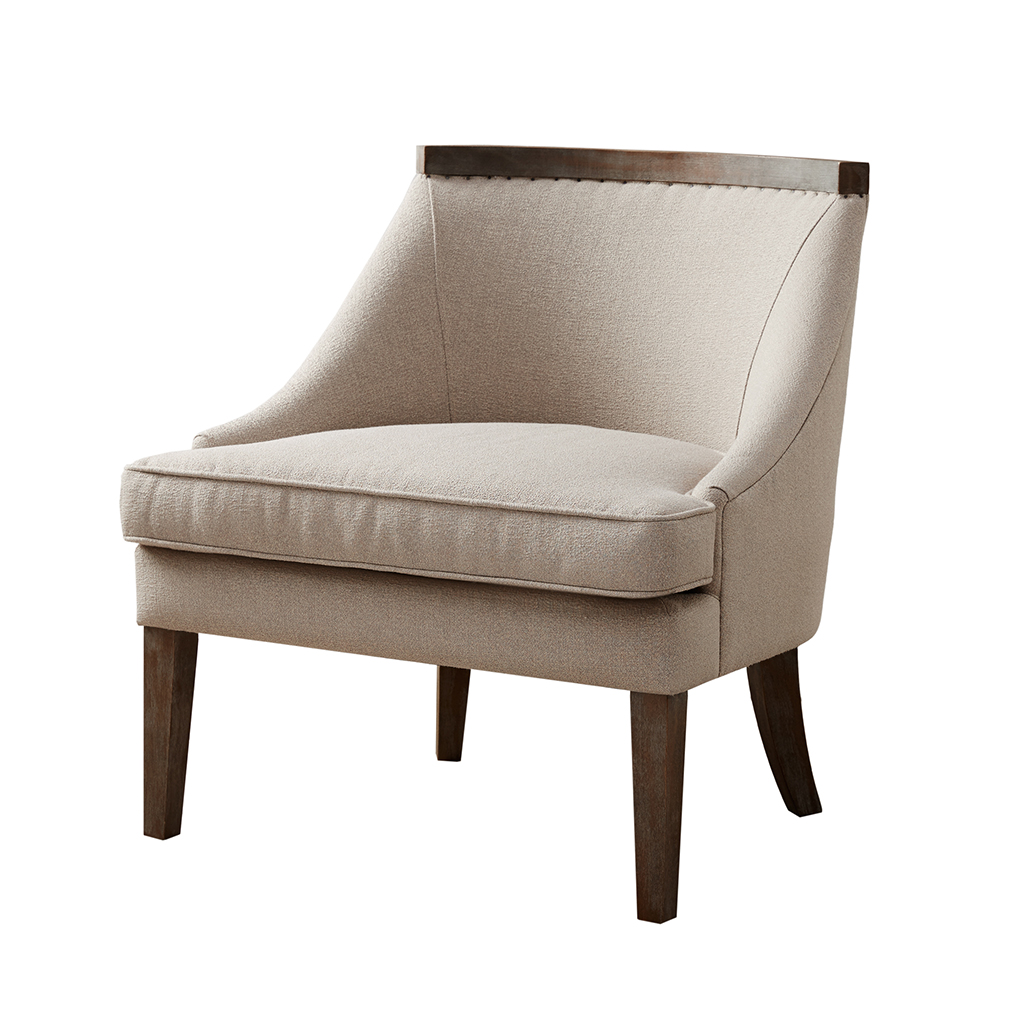 Madison Park Milo Reclaimed Trim Accent Chair Ebay