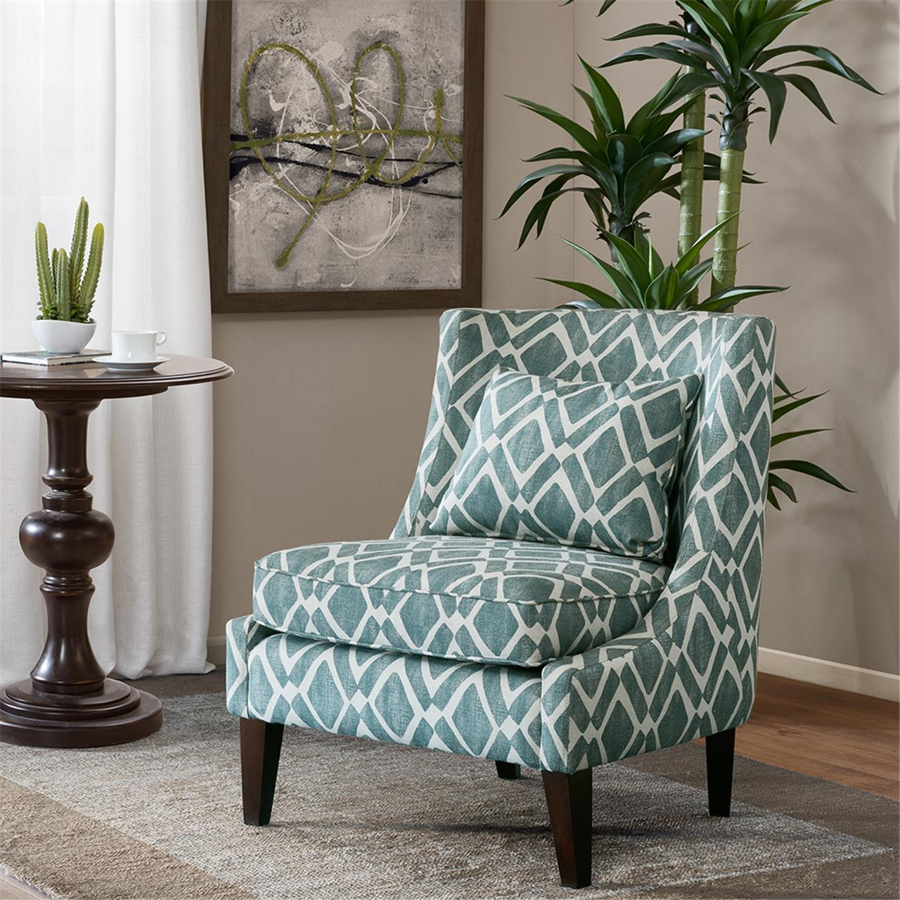 Marvelous Image Is Loading Madison Park Waverly Swoop Arm Chair