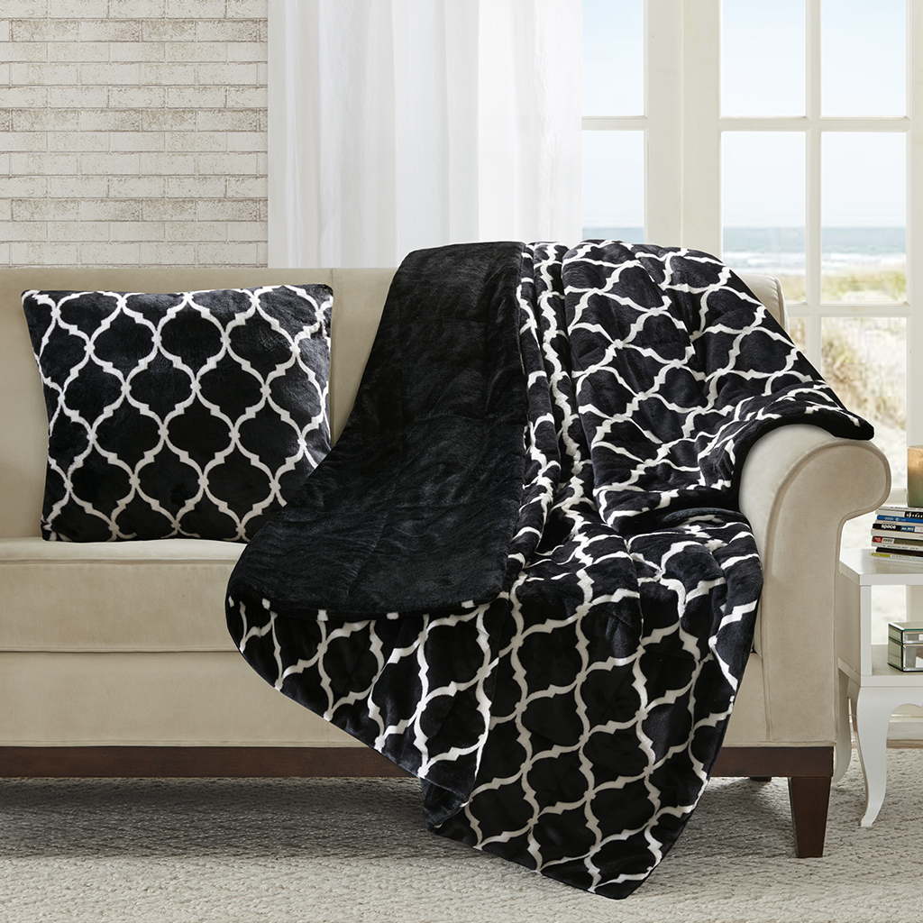 Madison Park Oversized Ogee Down Alternative Throw