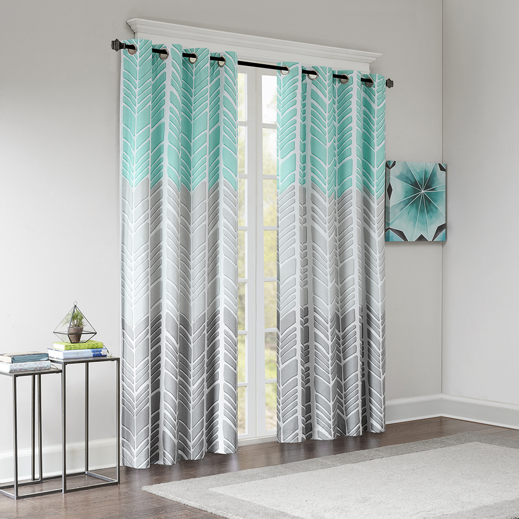 Intelligent design adel printed blackout window panel ebay - Design of curtains for living rooms ...