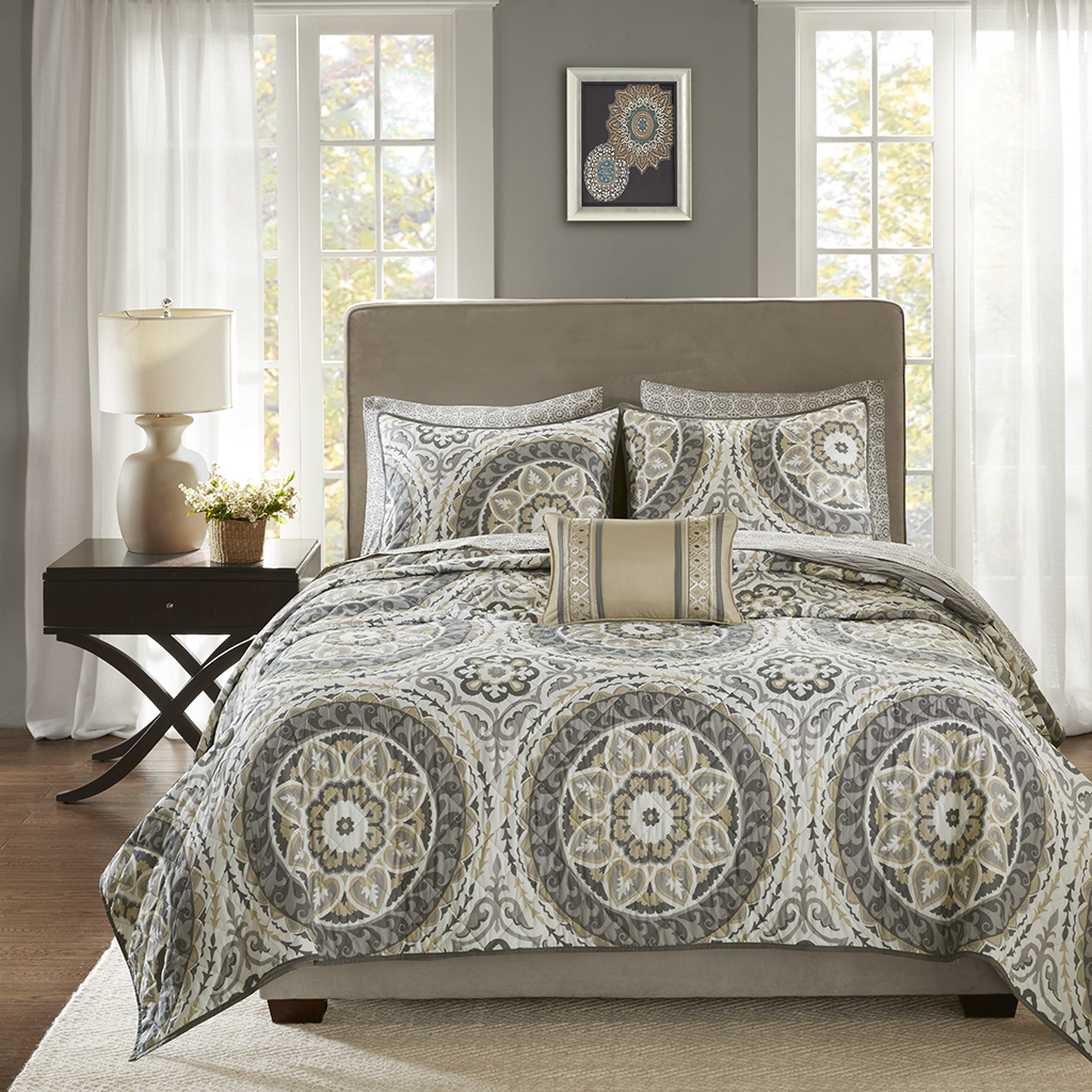 Madison Park Essentials Serenity Complete Coverlet And Sheet
