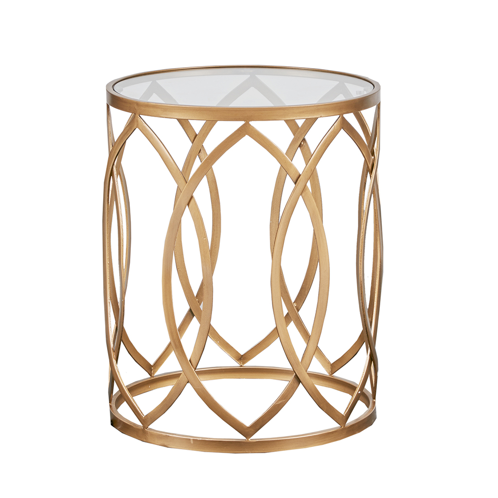Madison Park Arlo Metal Eyelet Accent Table Ebay