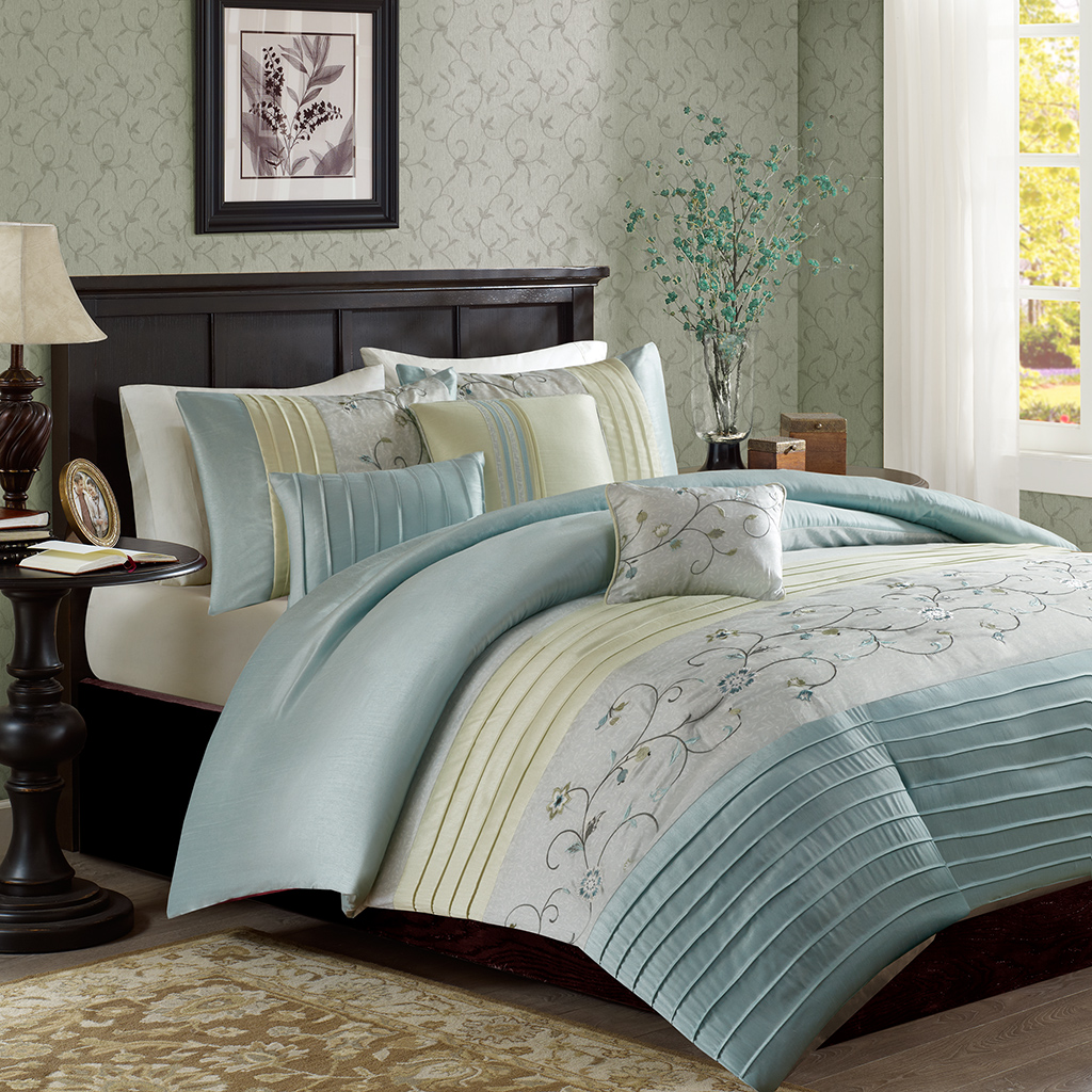 Madison Park Serene 6 Piece Duvet Cover Set Ebay