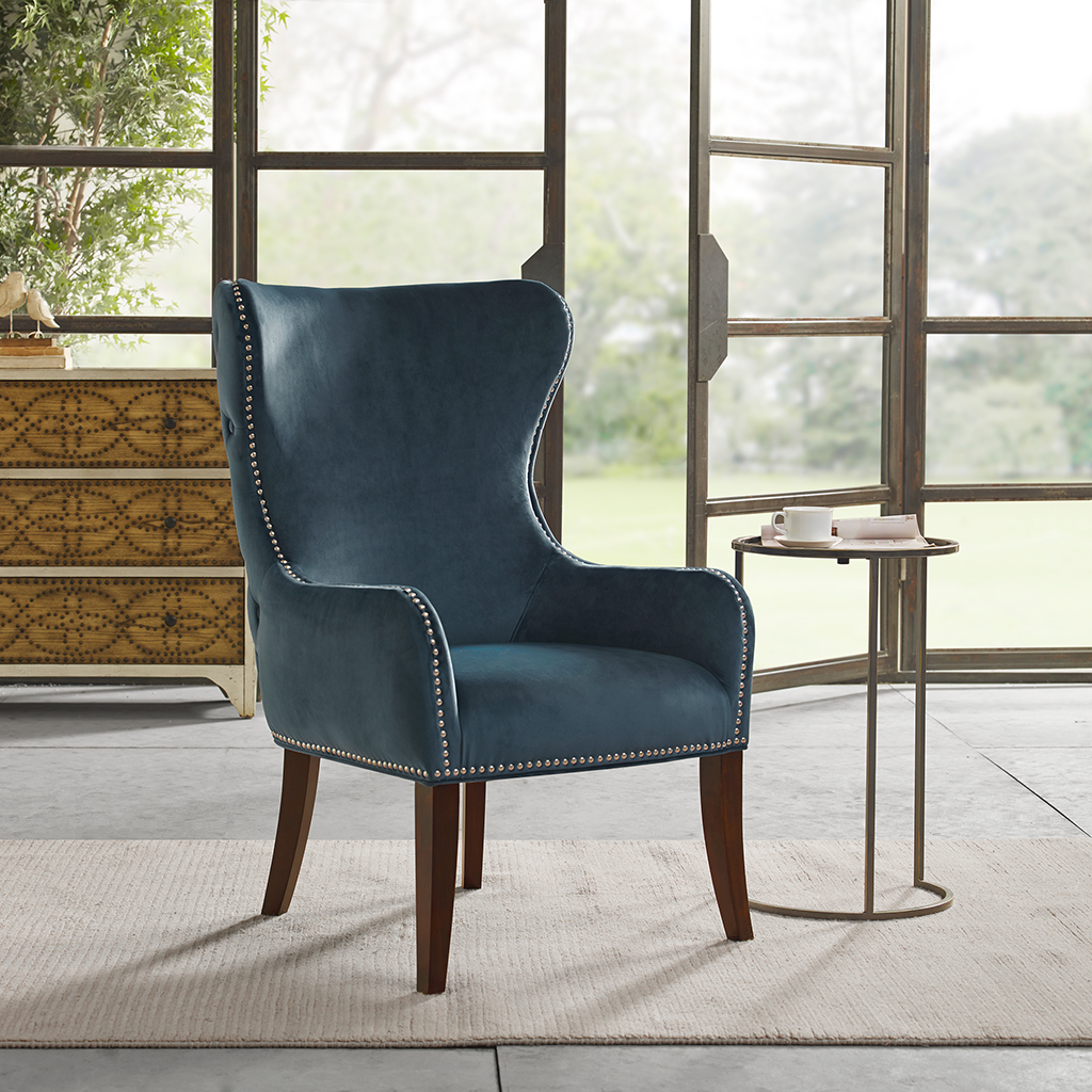 Madison Park Hancock Button Tufted Back Accent Chair