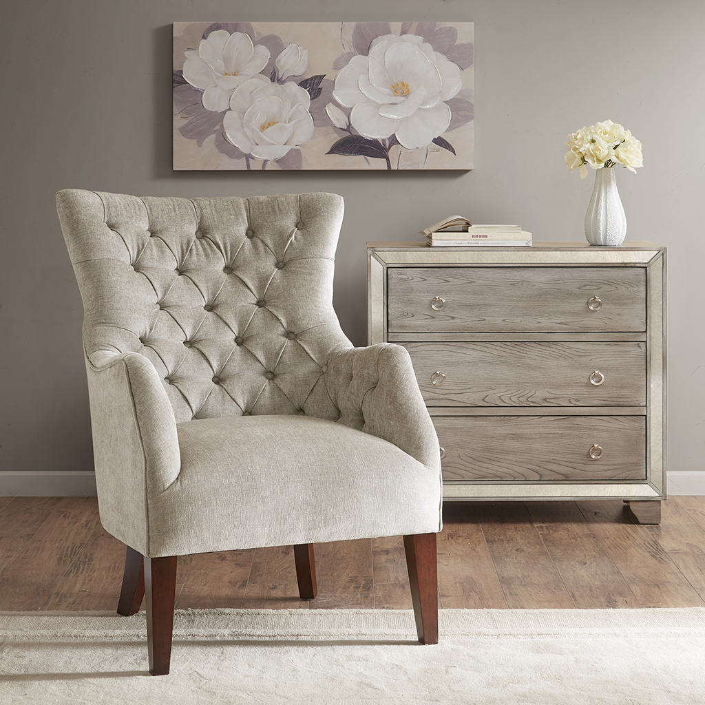 Madison Park Hannah Button Tufted Wing Chair