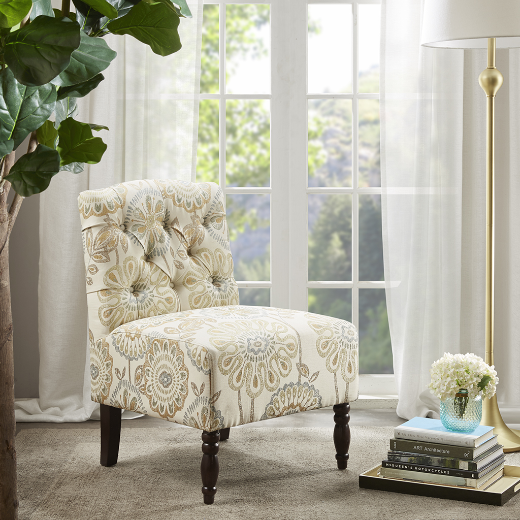 Image Is Loading Madison Park Lola Tufted Armless Chair