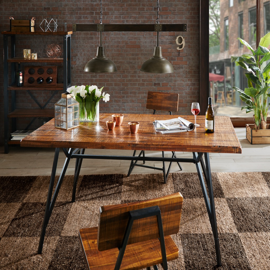 Image Is Loading INK IVY Trestle Dining Gathering Table