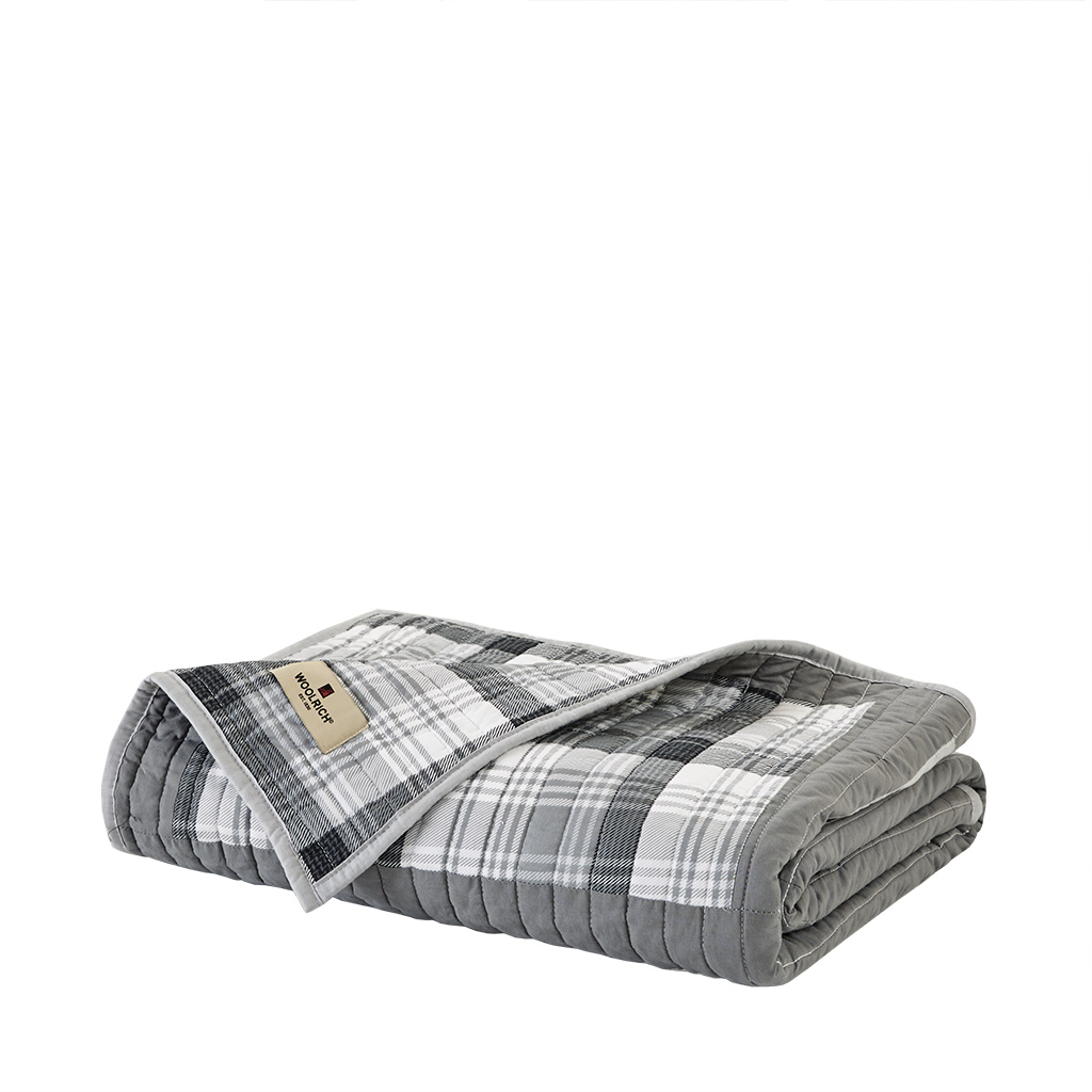Woolrich Huntington Oversized Cotton Quilted Throw | eBay : woolrich quilted blanket - Adamdwight.com