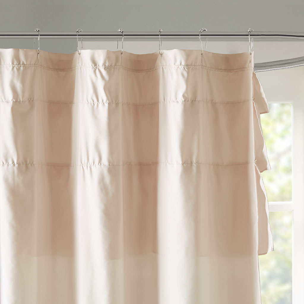 Madison Park Grace Ruffled Shower Curtain