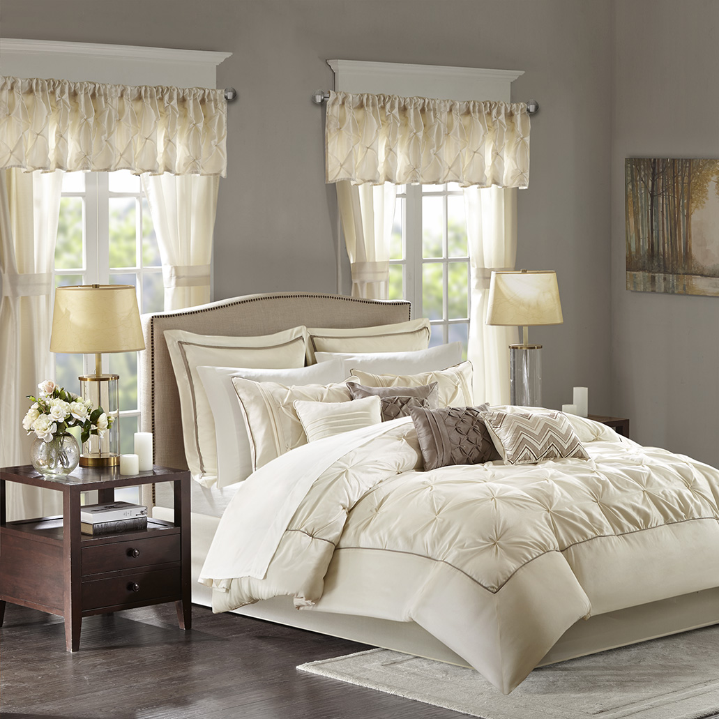 mushroom with bag a shipping overstock today loretta set included madison bath free panels essentials window and bedding sheet piece in taupe product room park