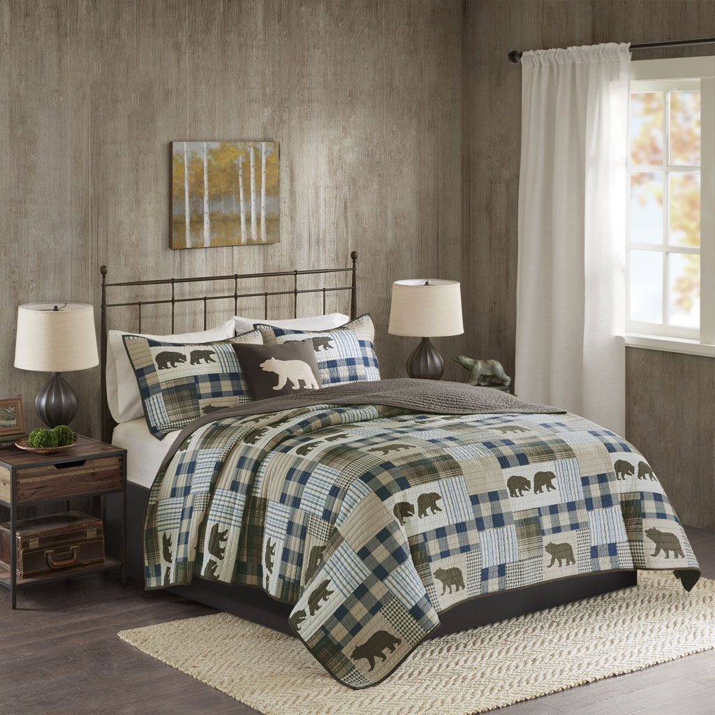 Image Is Loading Woolrich Twin Falls Oversized 4 Piece Quilt Set